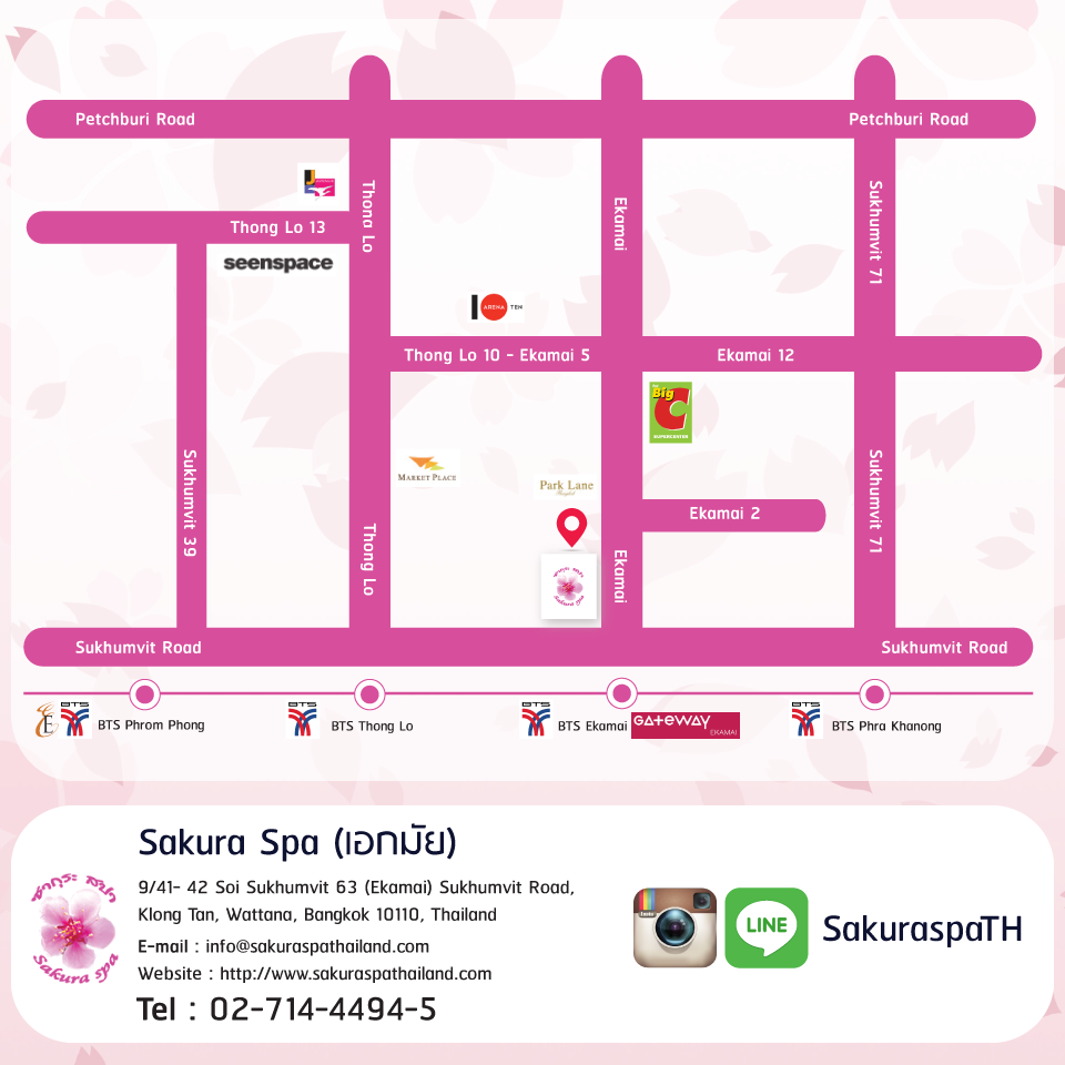 Sakura Spa Map