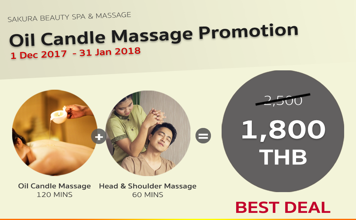 Oil Candle Massage Promotion