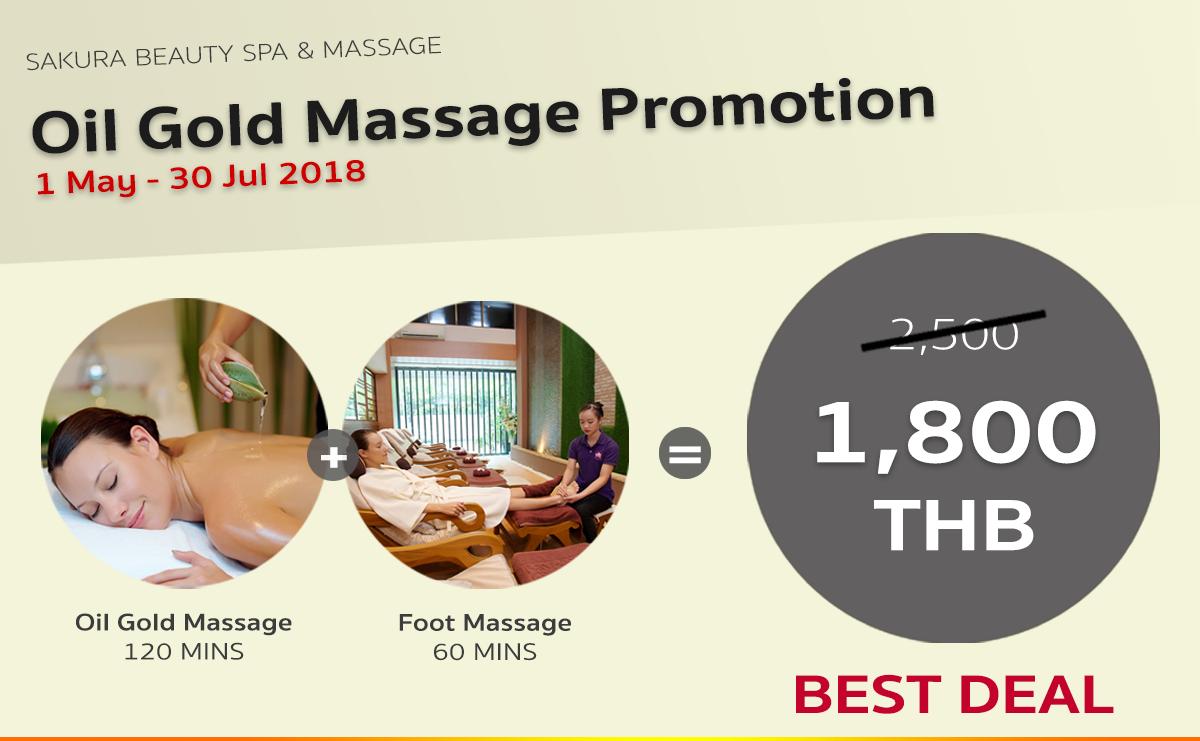 Sakura Oil Gold Massage Promotion