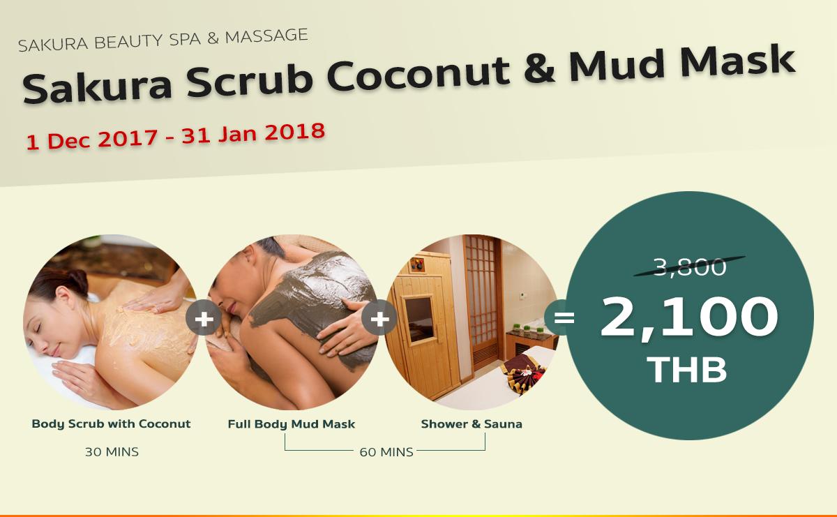 Sakura Scrub Coconut & Mud Mask