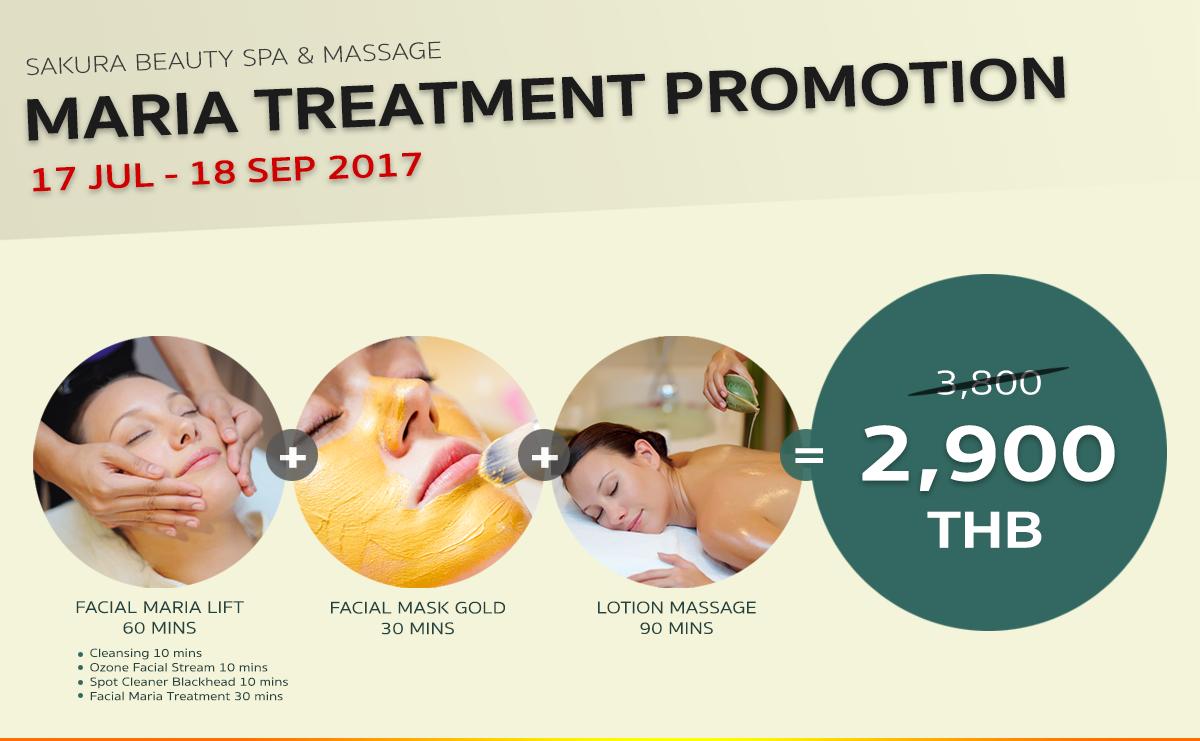 Sakura Spa Facial Maria Treatment Promotion