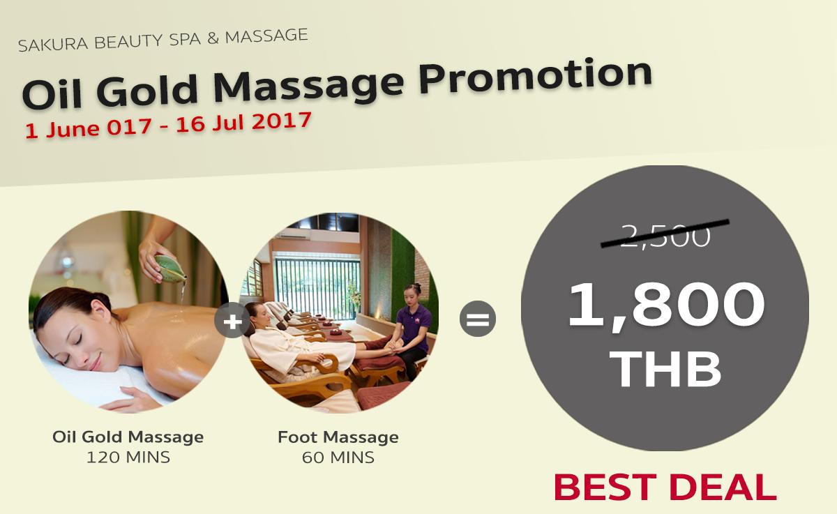 Oil Gold Massage Promotion