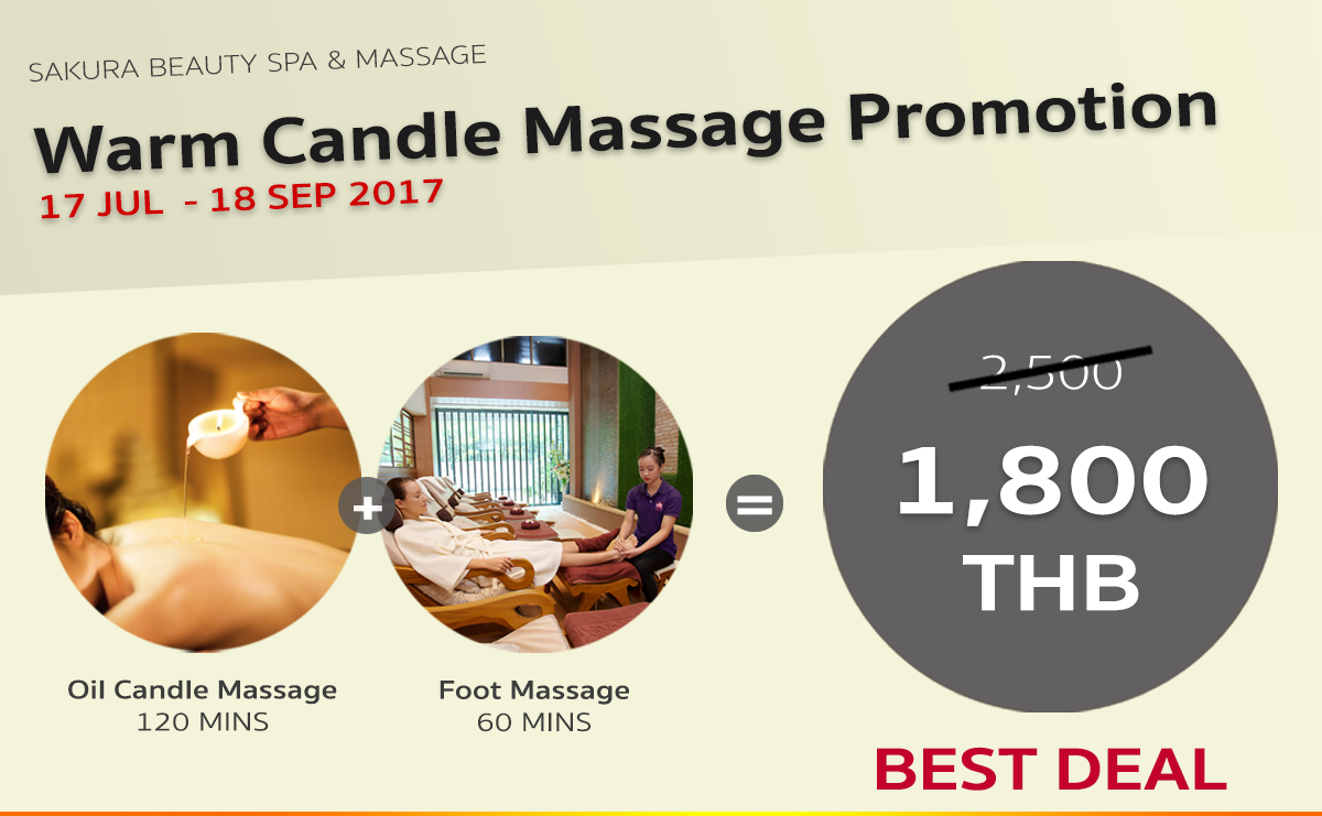 Sakura Spa Body Warm Candle Massage Promotion