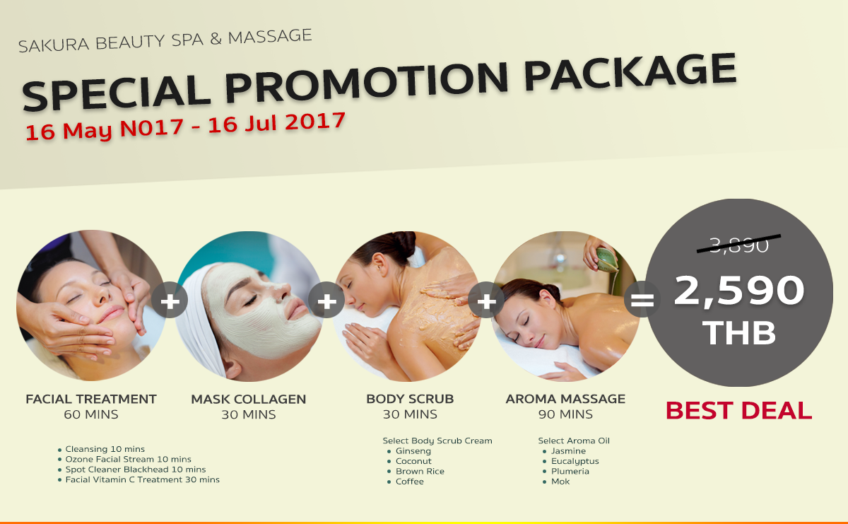 Sakura Spa Promoiton Package