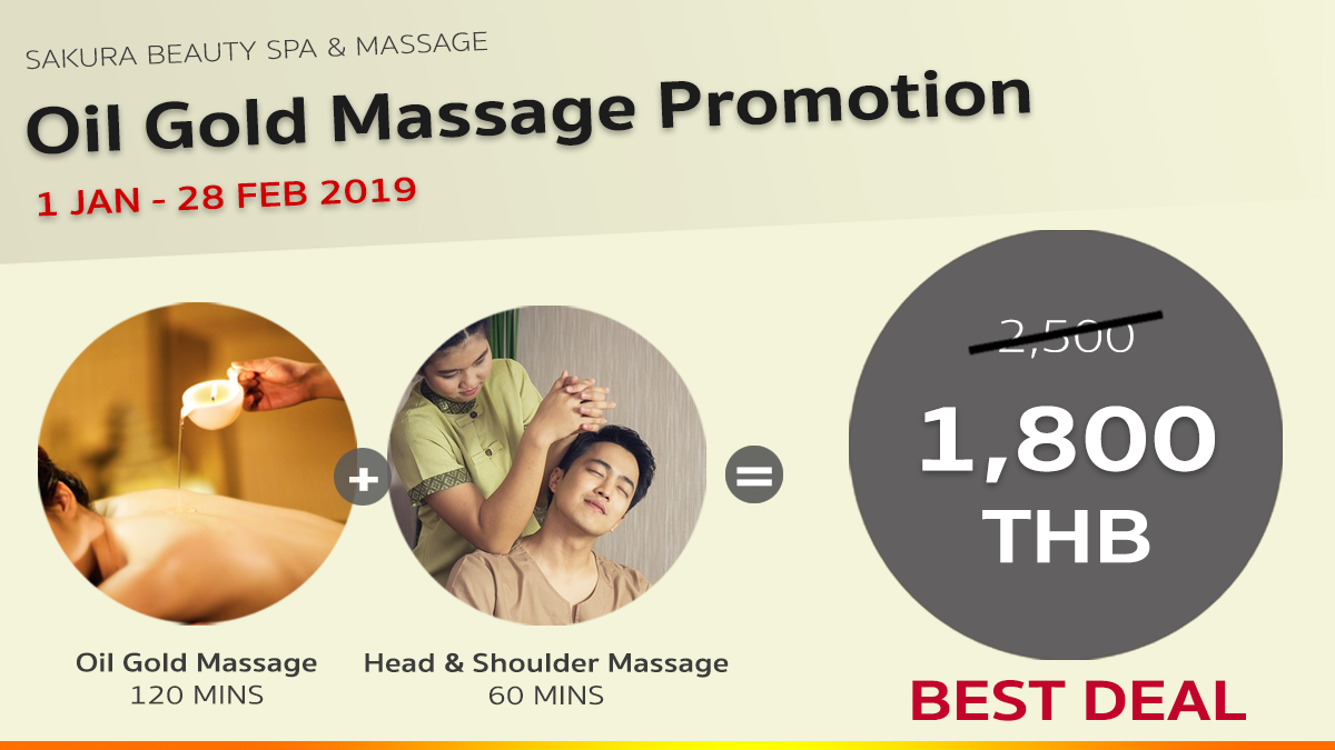 Sakura Oil Gold Massage Promotion